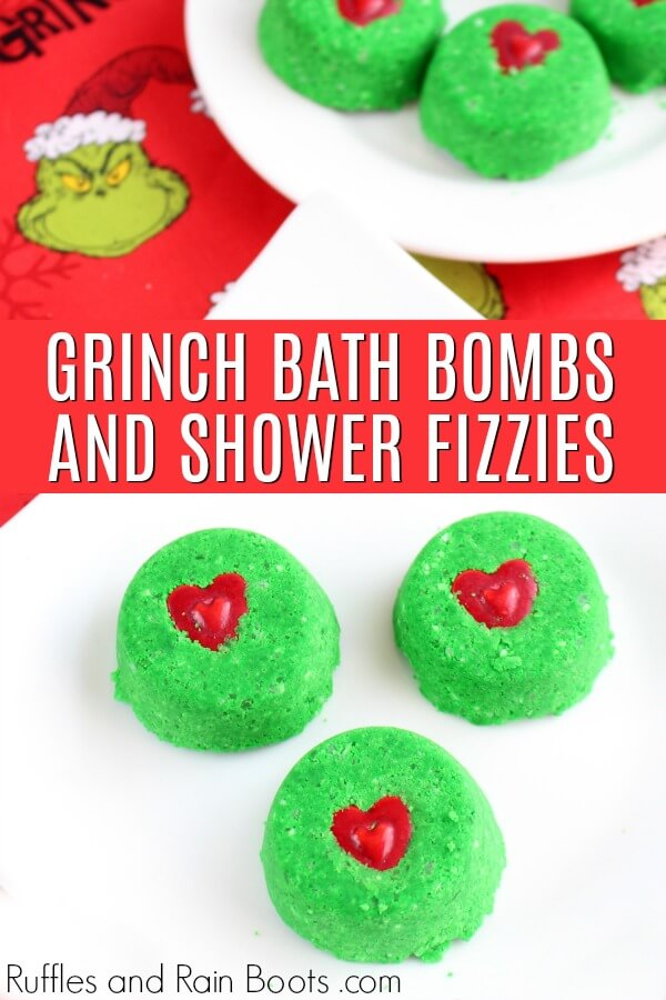Grinch Christmas Shower Bombs Recipe