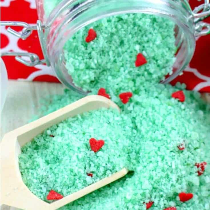Grinch Christmas Bath Salts Recipe for The Grinch Movie Crafts