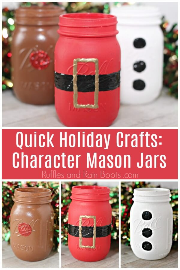 Christmas Mason Jars A Quick Fun Craft For Everyone