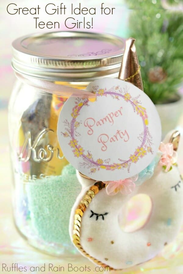 Spa Mason Jar Gift Idea For Teens