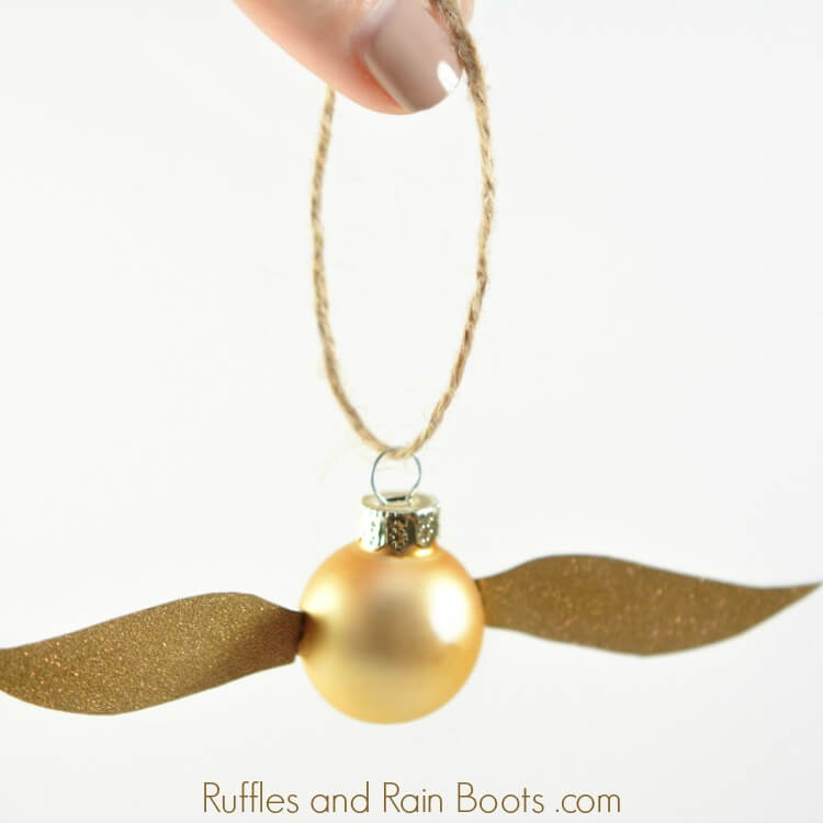 Harry Potter Golden Snitch Craft on white background