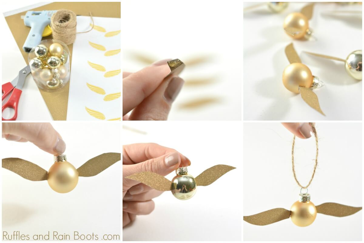 How to make a golden snitch from Harry Potter Quidditch