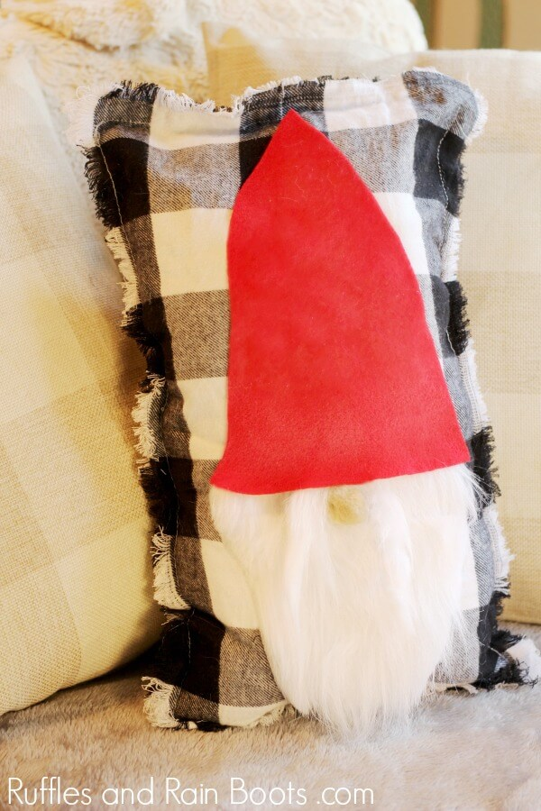 Adorable Gnome Pillow Cover for Christmas