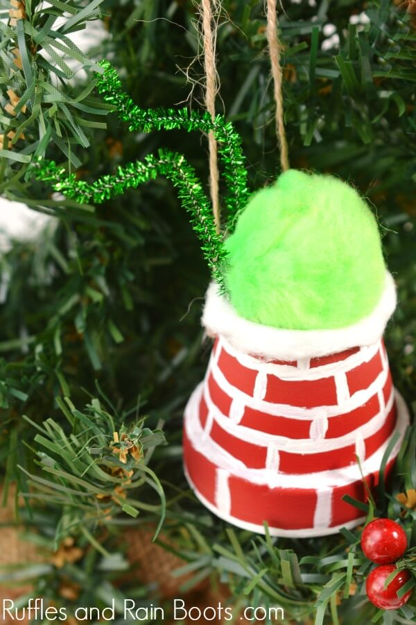 Grinch Ornament Craft for Kids