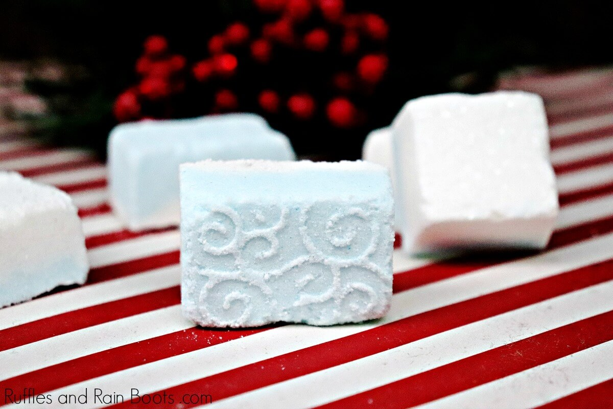 winter shower fizzies and diy spa gift