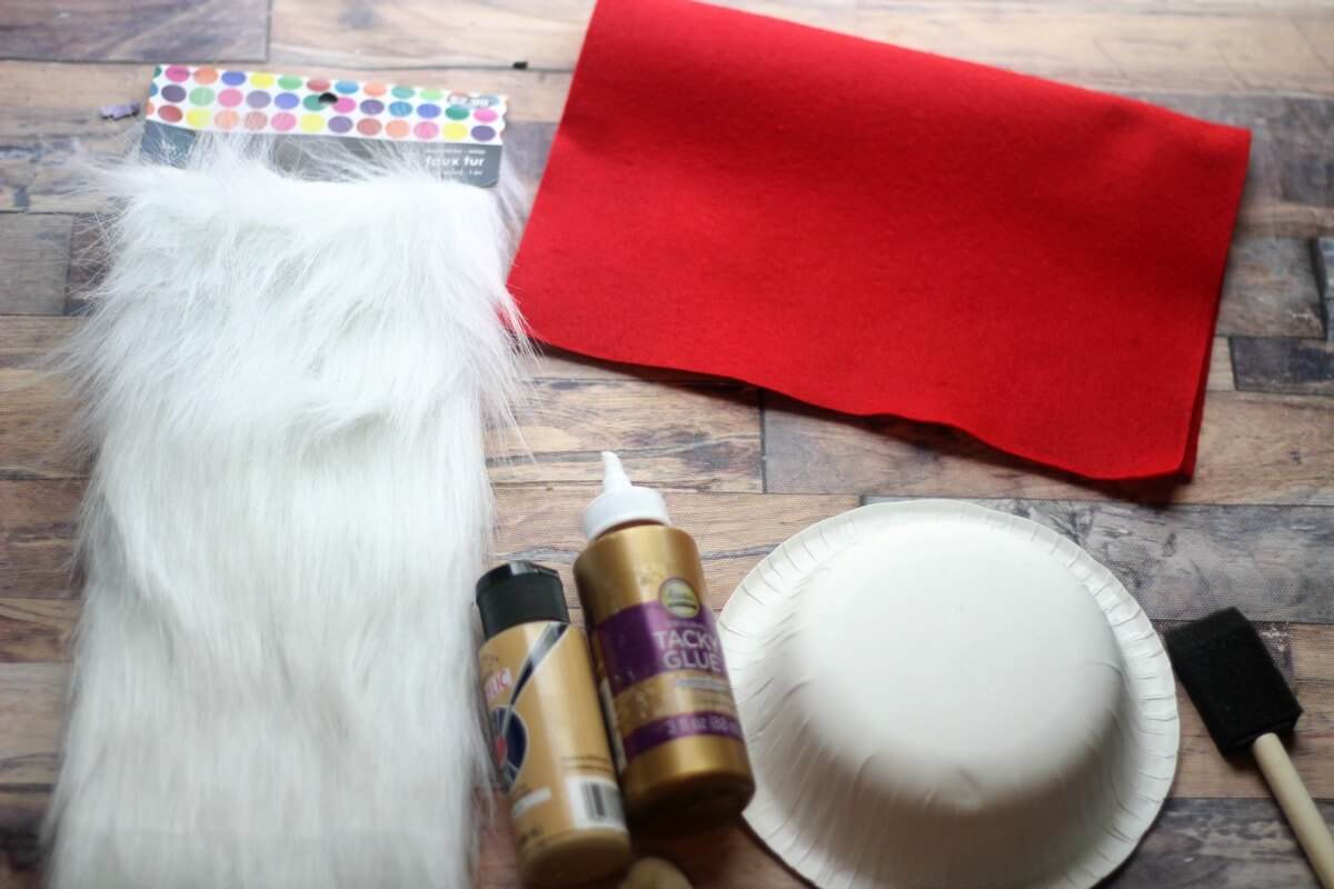 Supplies to Make a Holiday Swedish Gnome craft