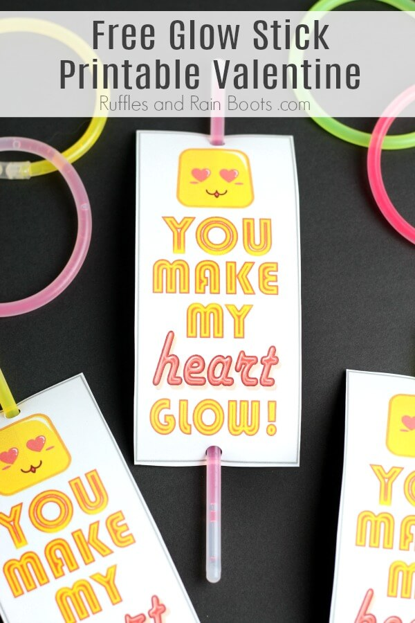 close up of candy free printable Valentines Day cards