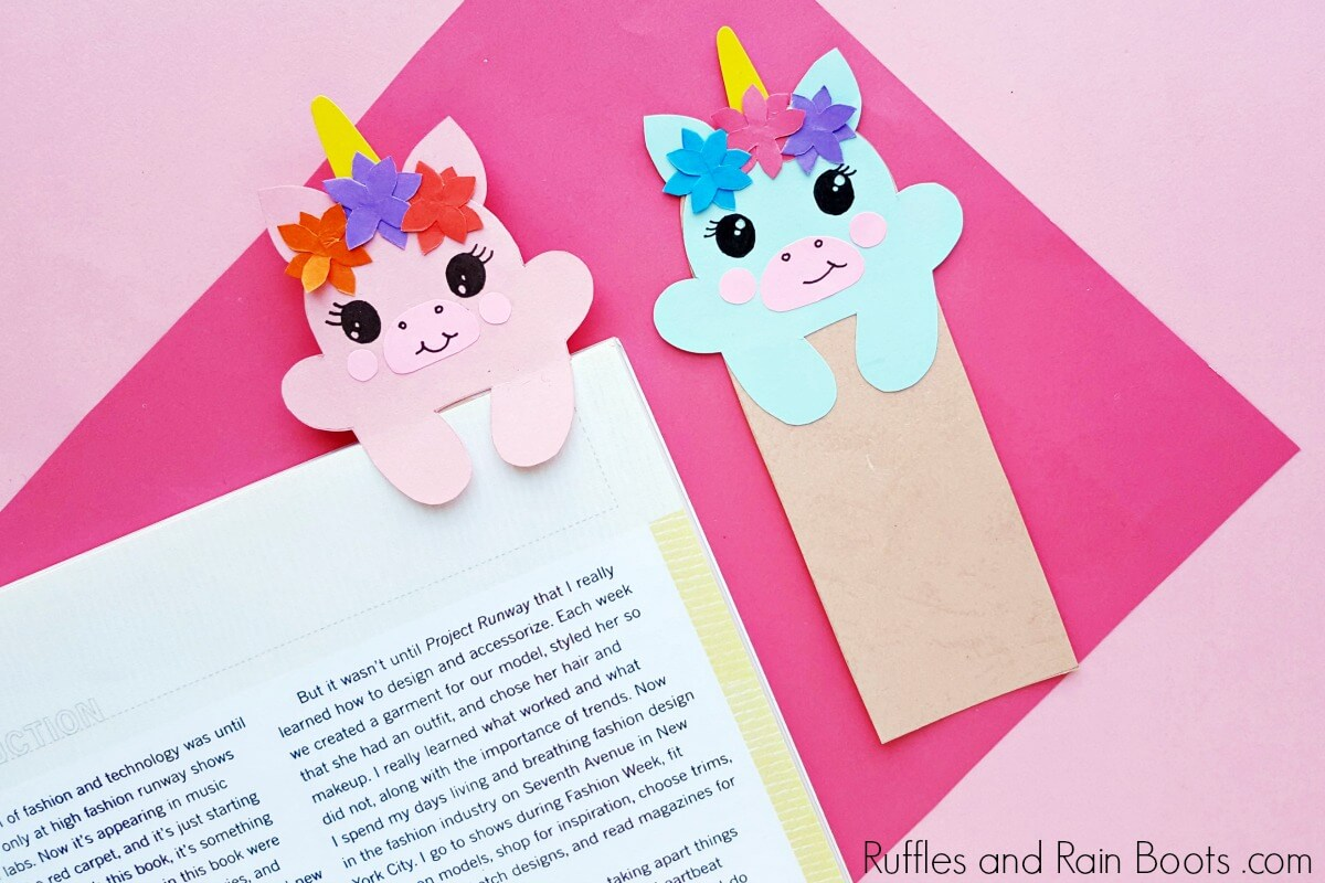Unicorn Bookmark Printable SVG
