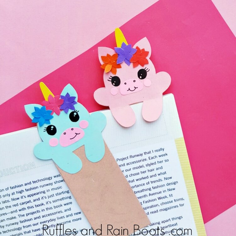 DIY Unicorn Hug Bookmark