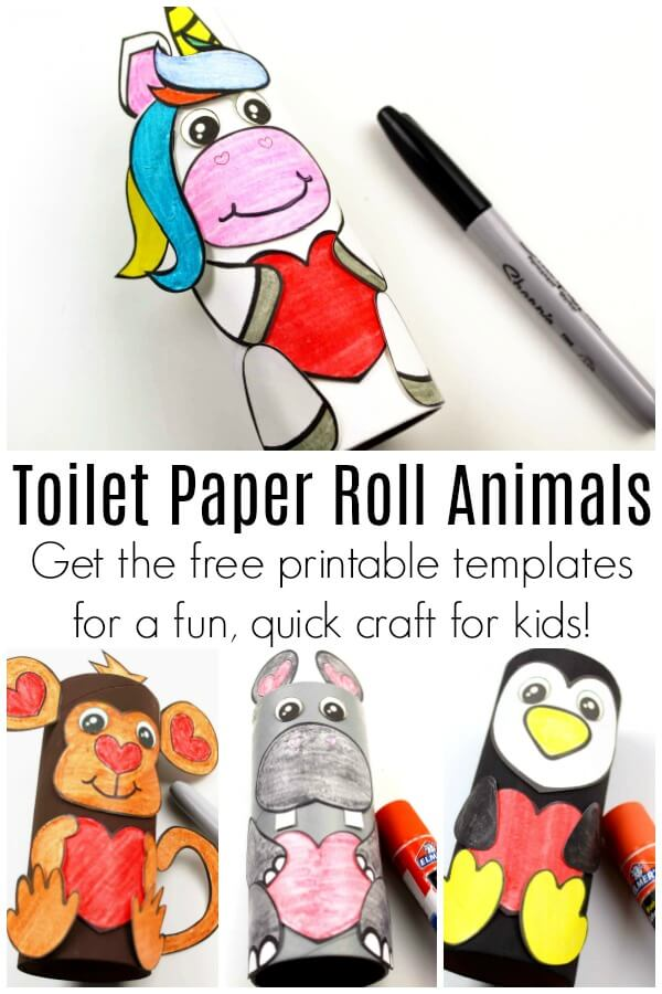 close up of toilet paper roll animals ideas