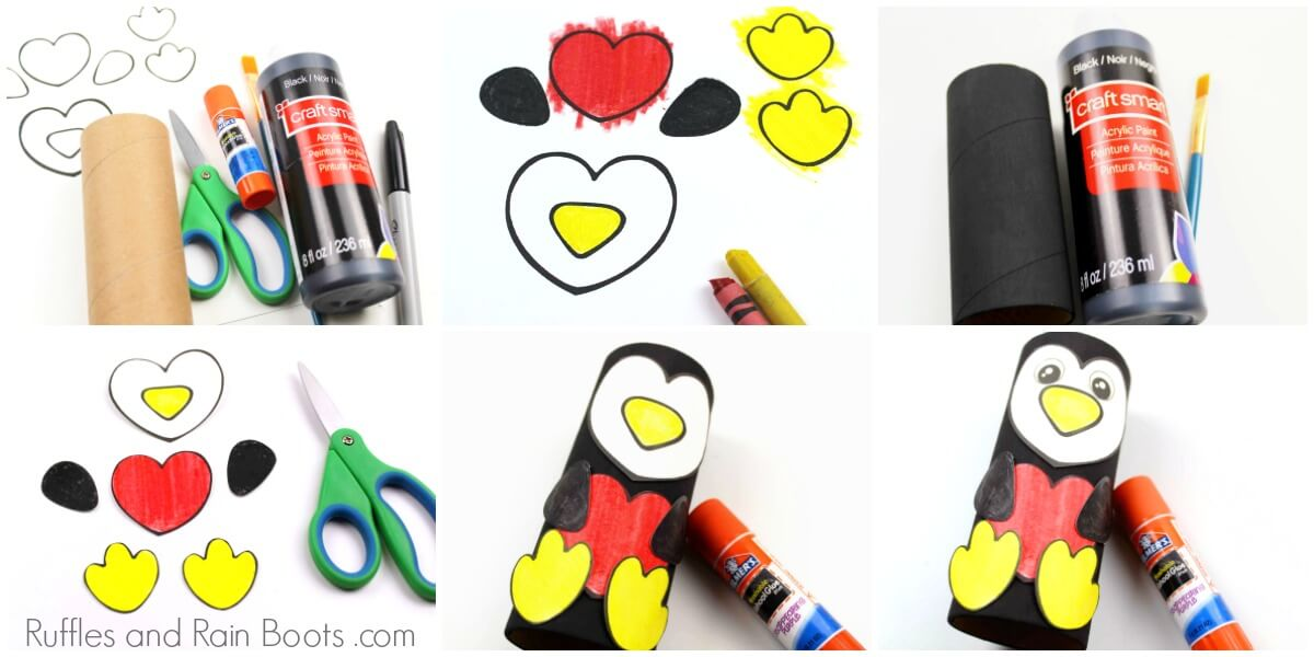 penguin paper roll craft