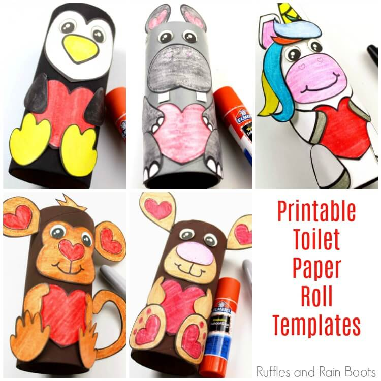 Toilet Paper Roll Animals with Printable