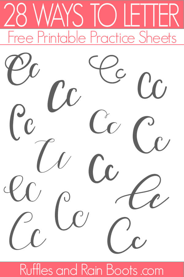 28 ways to draw the letter C