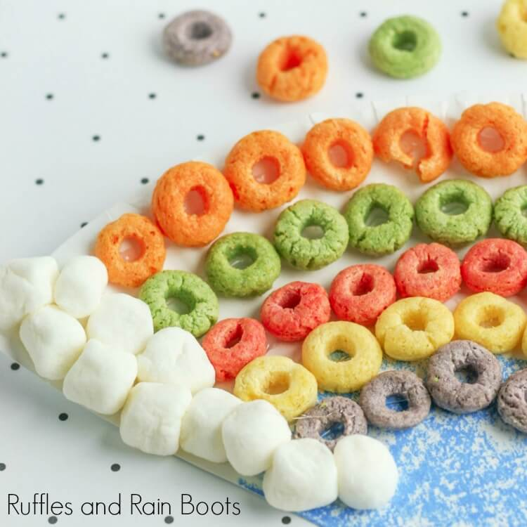 Rainbow Cereal Paper Plate Craft for Spring
