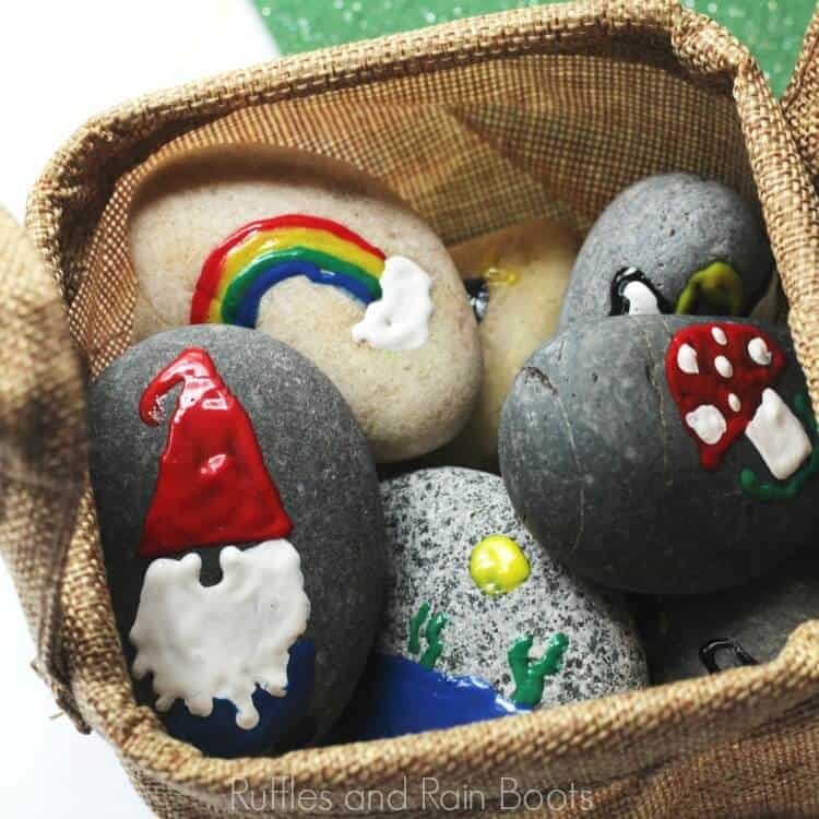 Garden Gnome Story Stones – Spring Rock Painting