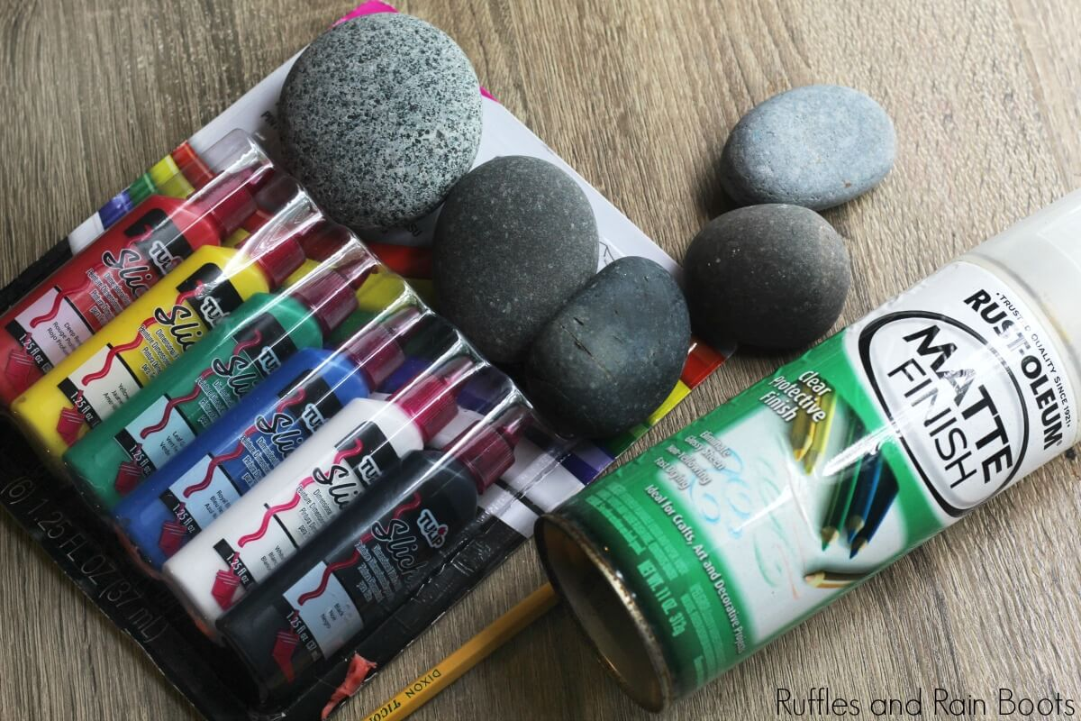 supplies needed for garden gnome story stones