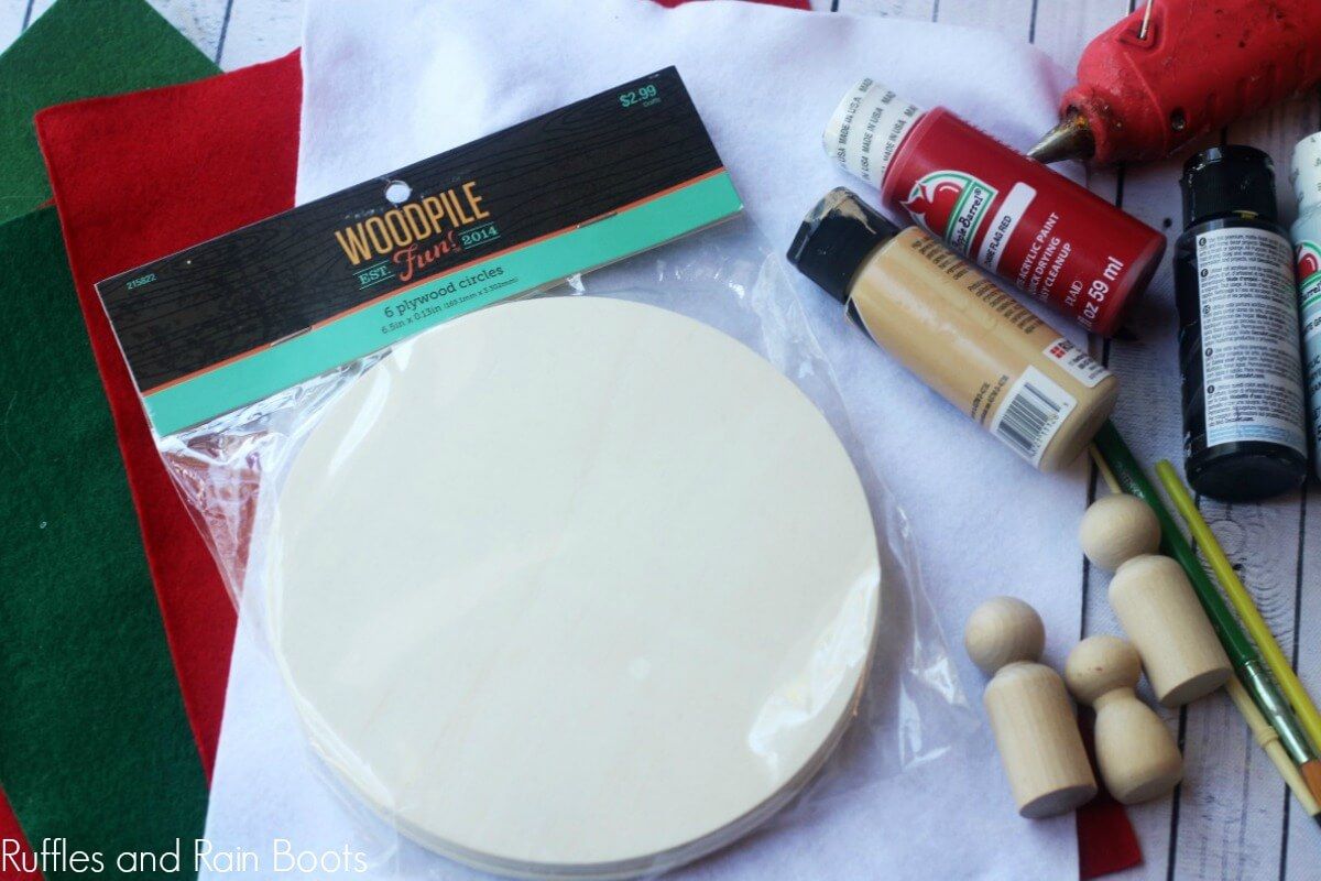 supplies need for this peg doll craft
