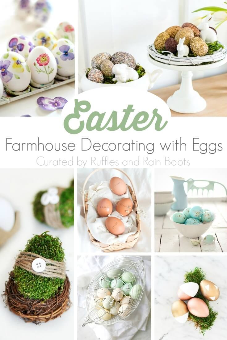 decorating with easter eggs farmhouse style
