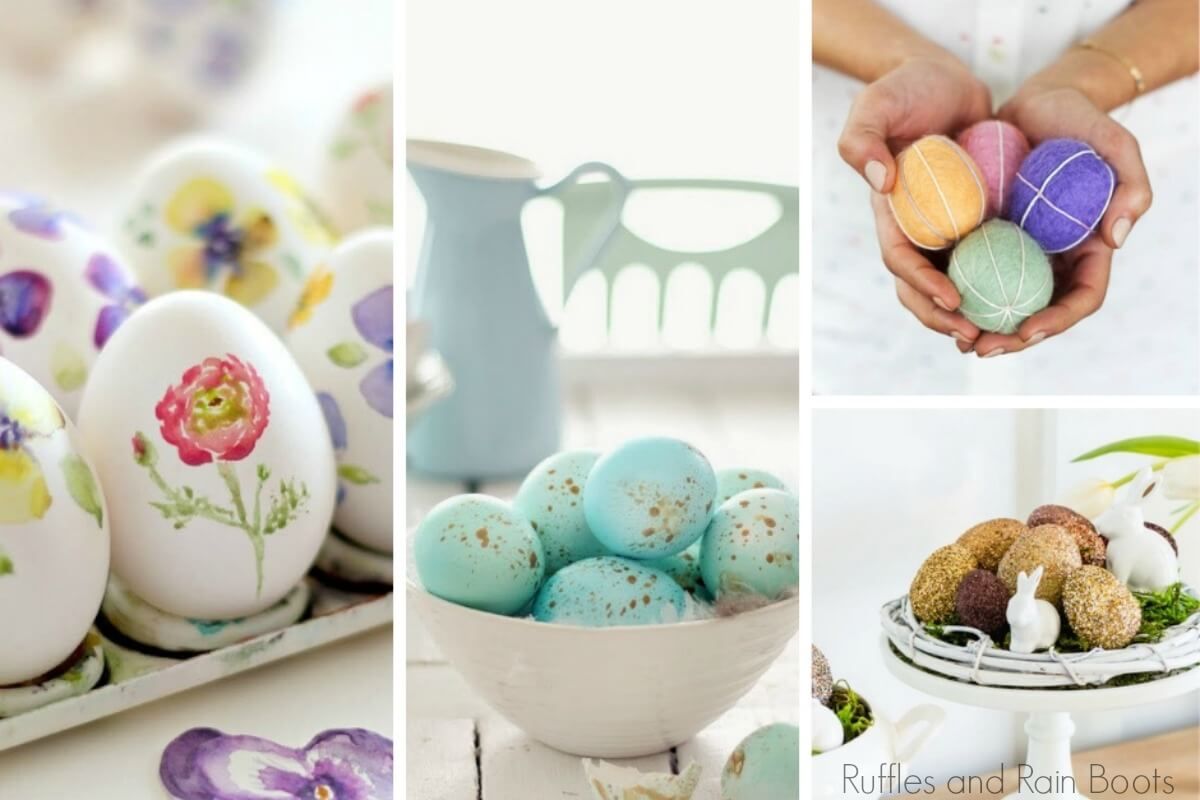farmhouse easter ideas for decorating with eggs