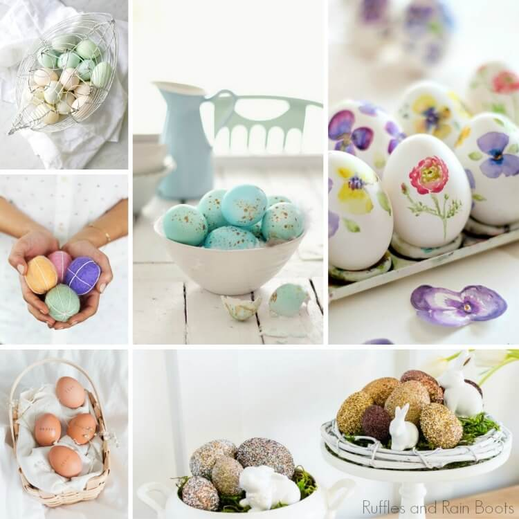 Farmhouse Easter Egg Decorating Ideas