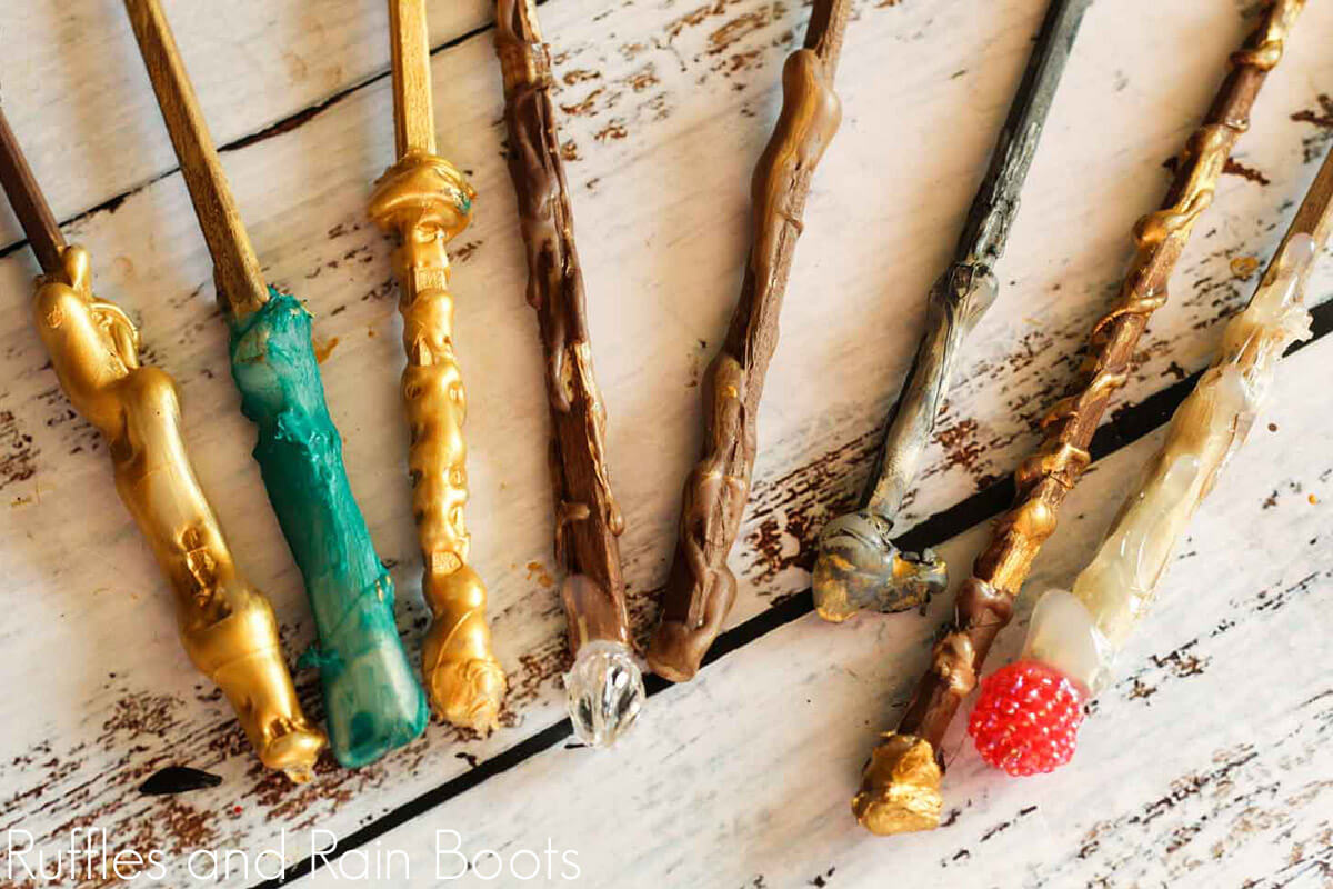 diy harry potter wands for party