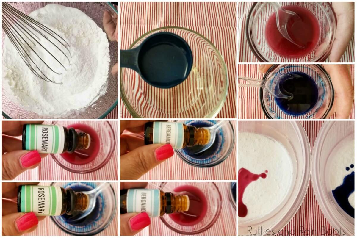 photo tutorial of how to make frozen bath bombs