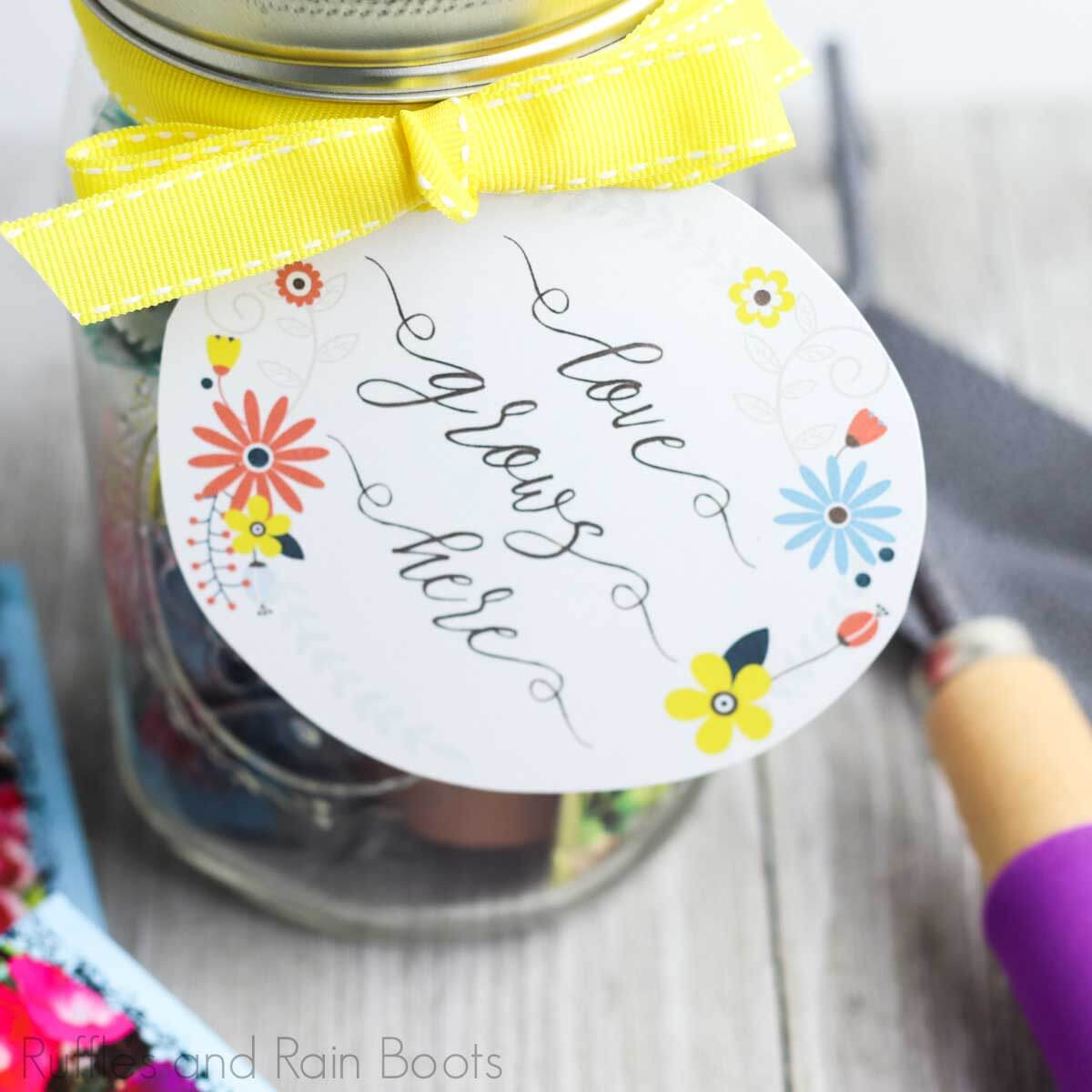 Flower Date Night in a Jar DIY