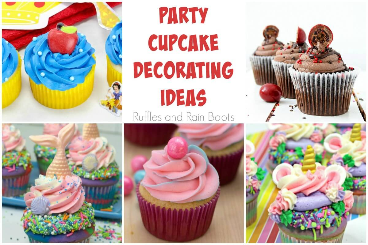 collage of party cupcakes
