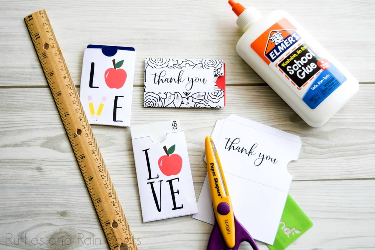 adorable teacher appreciation gift card holders