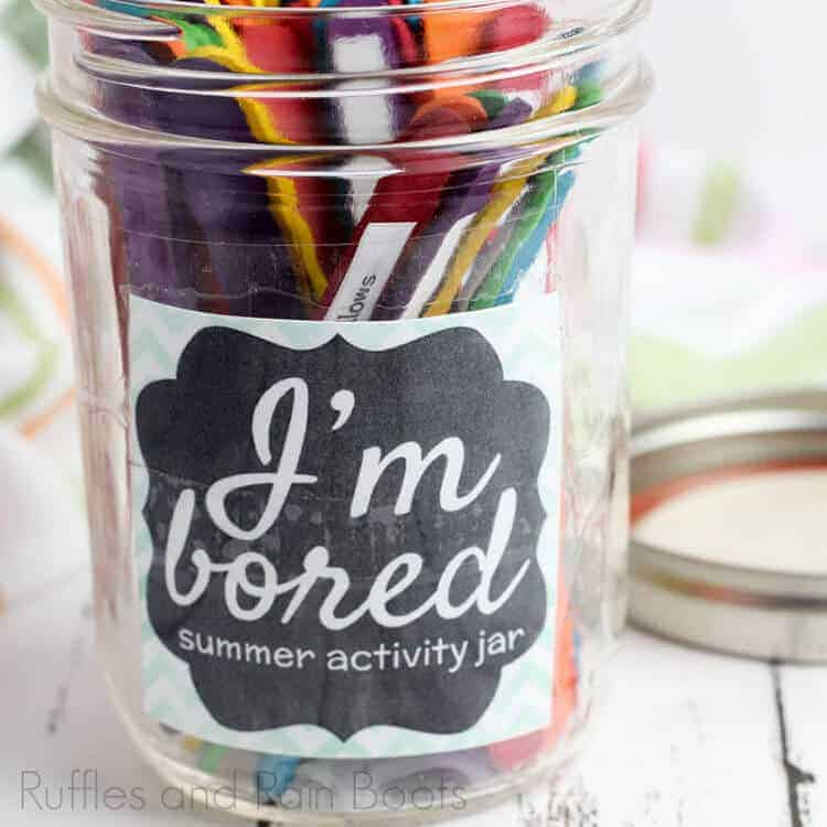 Summer Activity Jar To End The Boredom