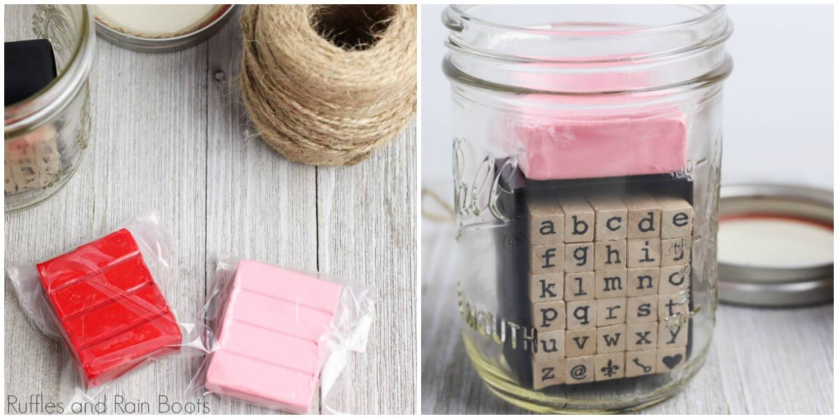 how to make a date night in a jar adding clay