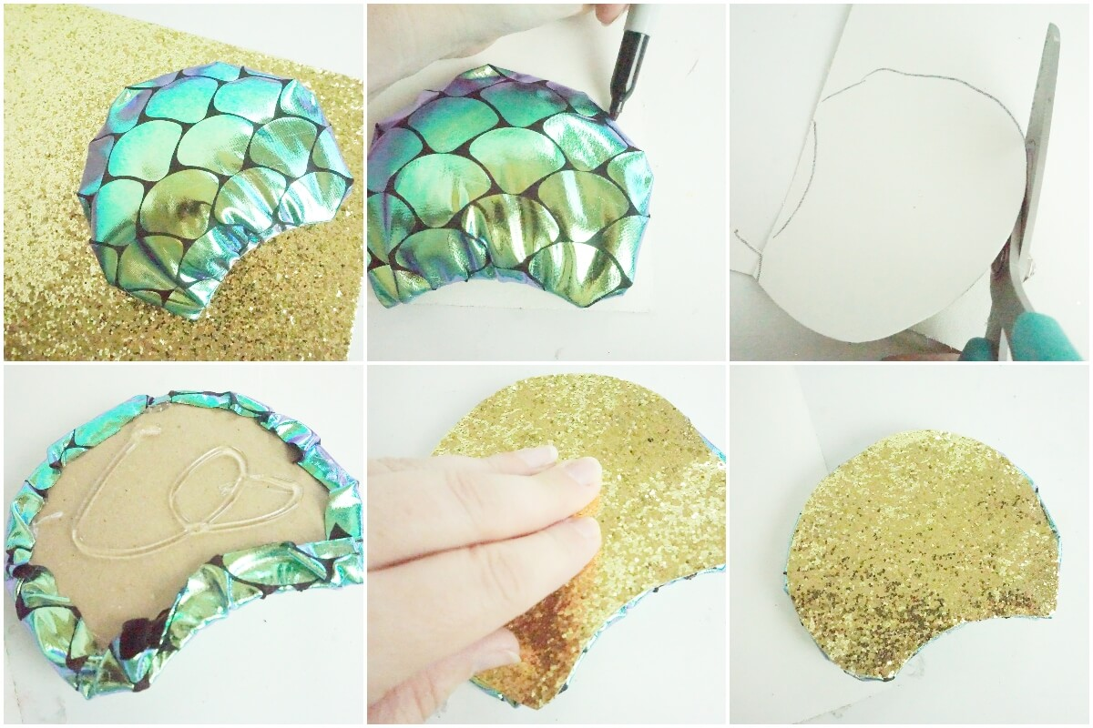 photo collage tutorial of how to make loki minnie ears with color change fabric