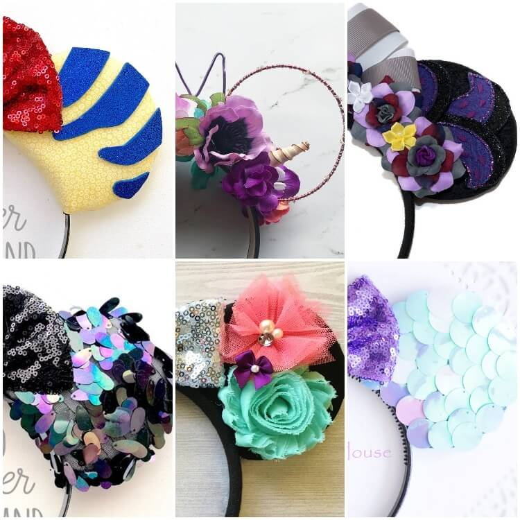 These are the Cutest Ariel Minnie Ears EVER!