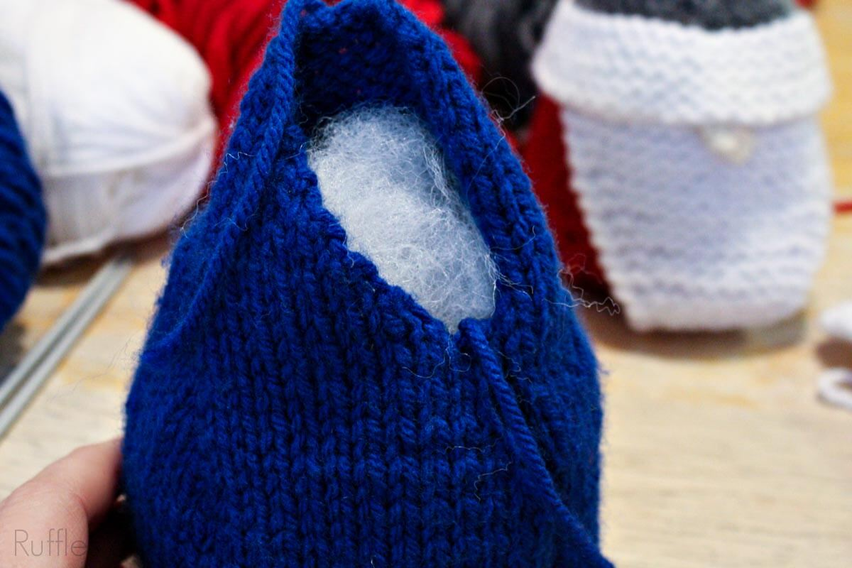 how to stuff a knitted gnome body