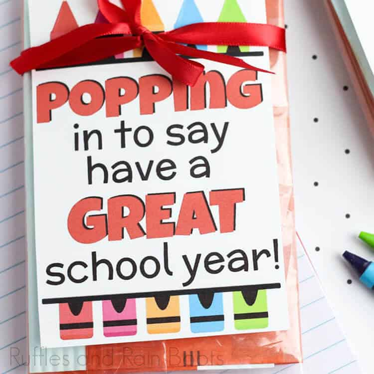 popcorn gift tag printable for easy teacher appreciation gift