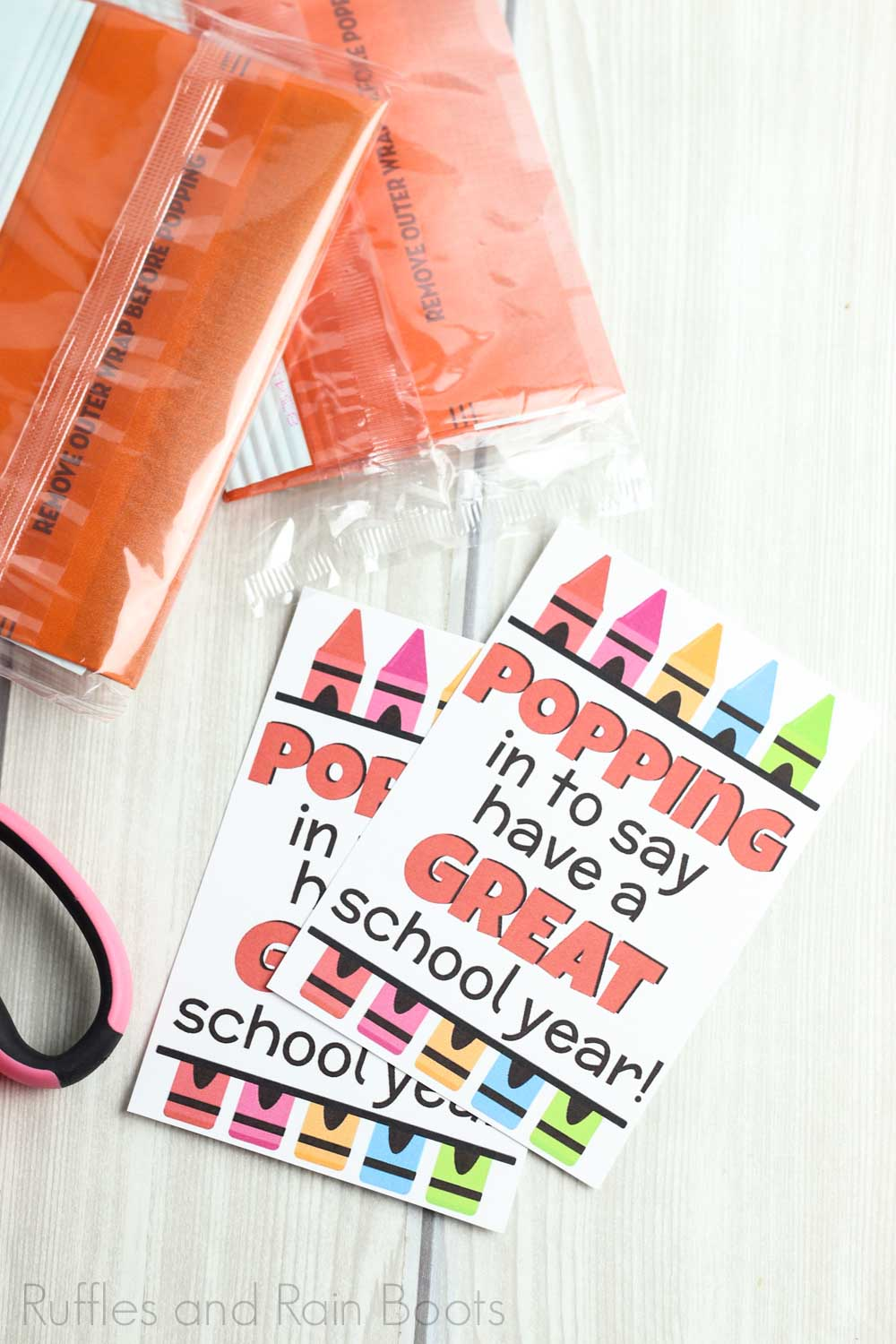 diy teacher appreciation gift made simple with easy step of print popcorn tag and cut out