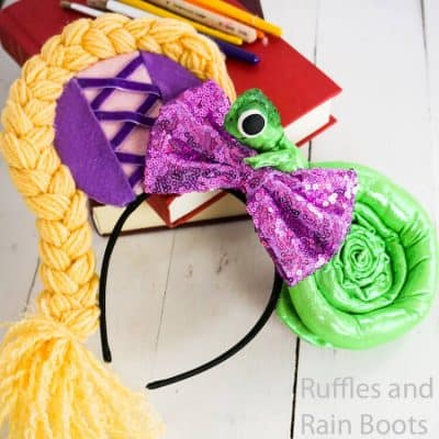 Make These No-Sew Rapunzel Minnie Ears to Wow Everyone!