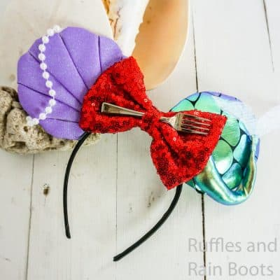 These The Little Mermaid Ariel Mickey Ears are So Easy!