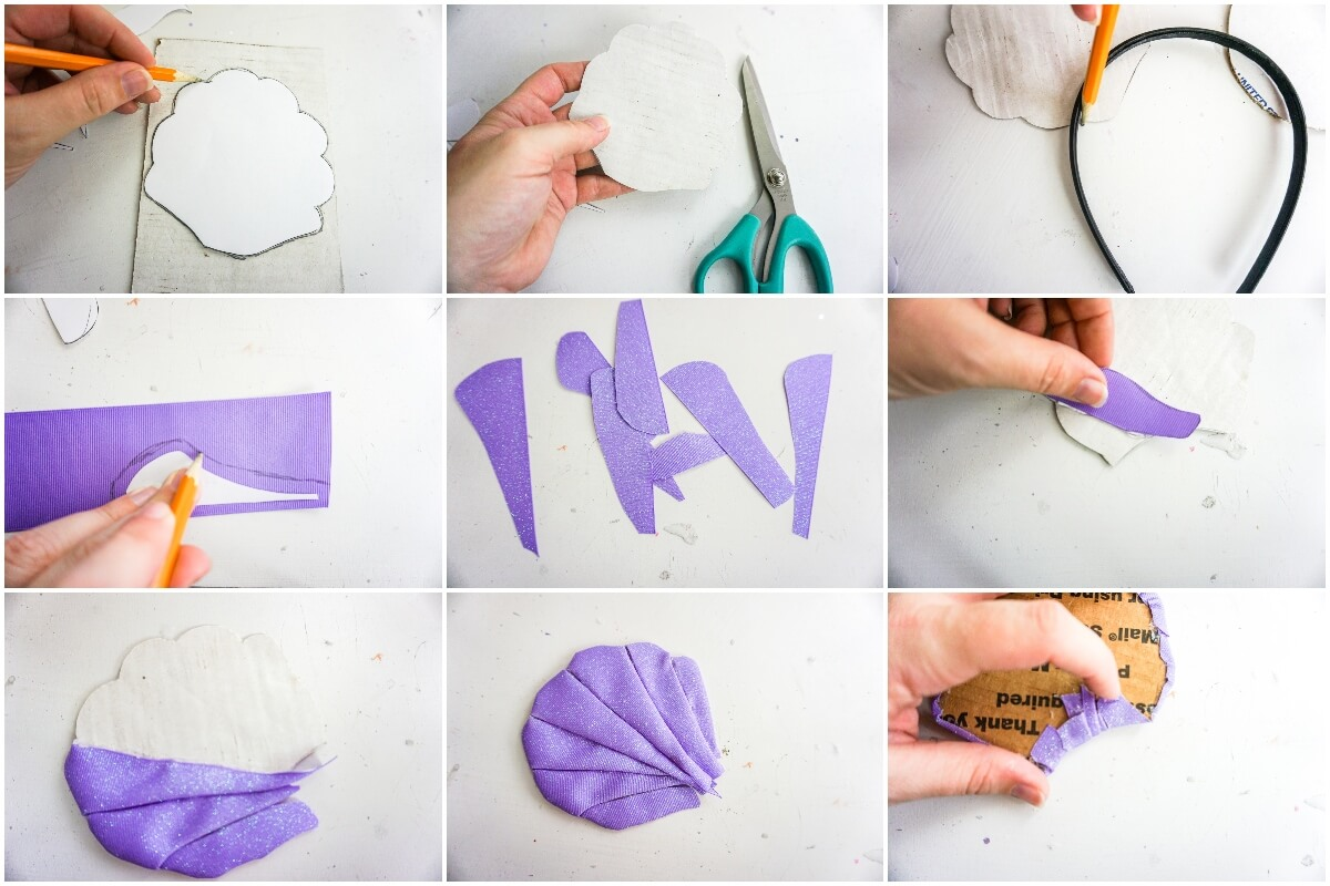 how to make no-sew ariel mickey ears for disney