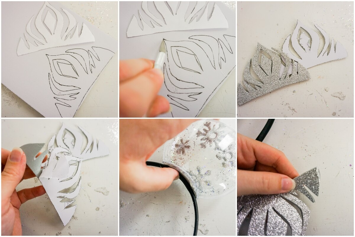 how to make elsa mickey ears from frozen