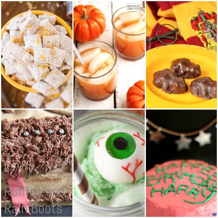 photo collage of the best harry potter food