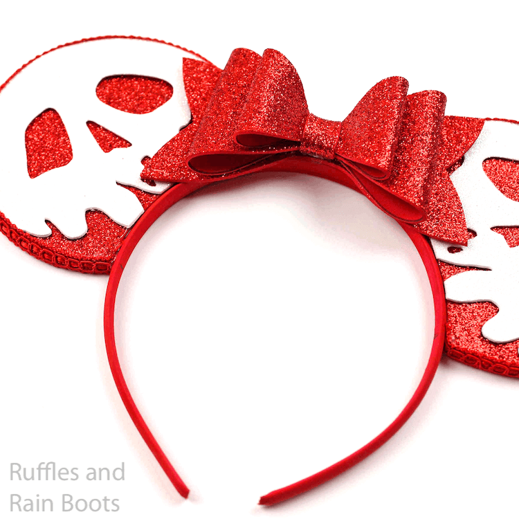 evil queen villain minnie ears on a white background