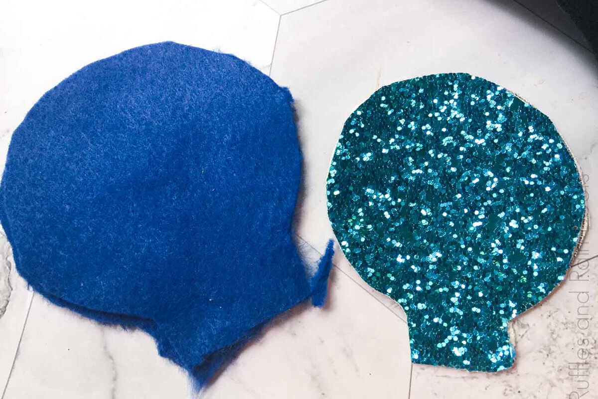 how to make frozen mickey ears Step 2 Cut Felt and Glitter Sheets