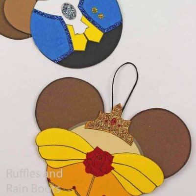 Make Easy Princess Belle and the Beast Ornaments for Christmas
