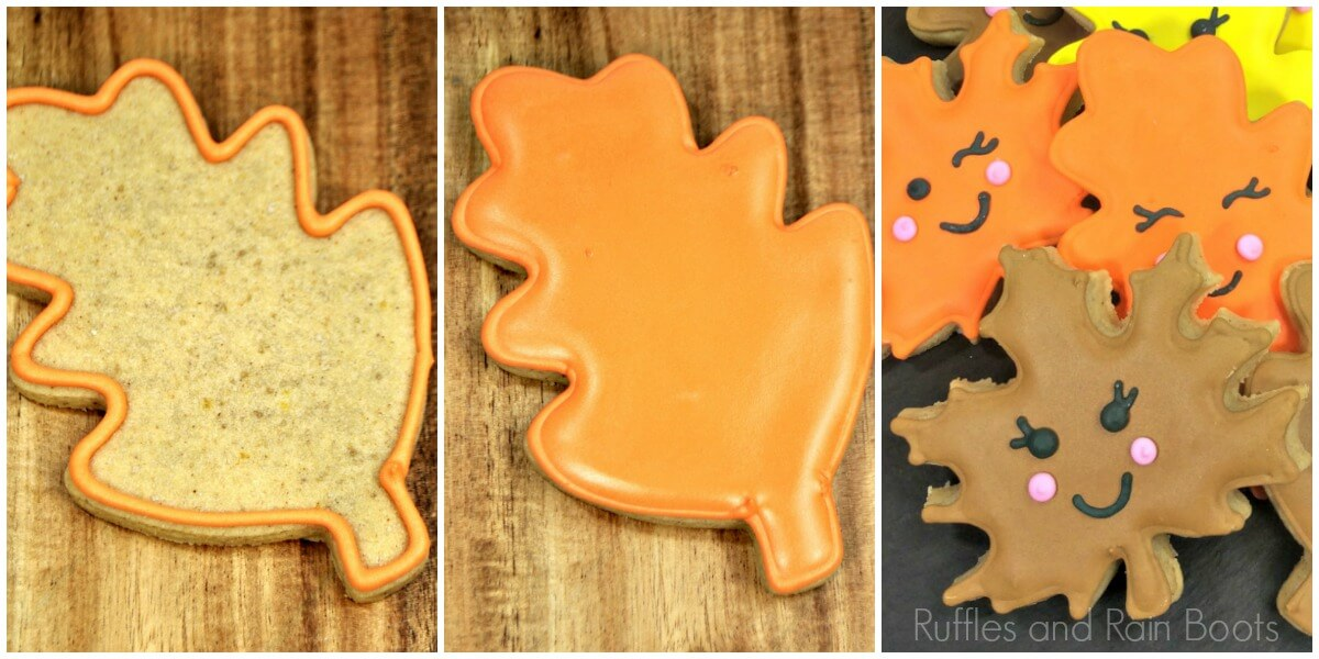 photo collage of How to Make Cute Leaf Cookies for Fall