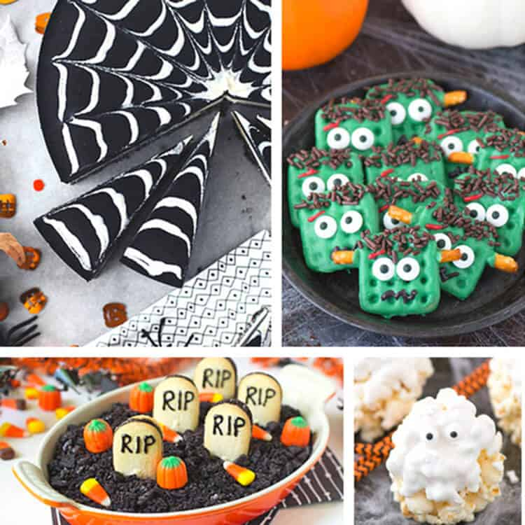photo collage of Fun Spooky Halloween Treats S
