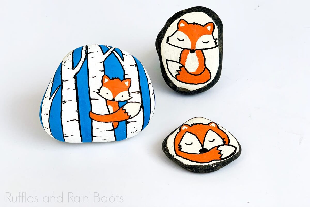Learn How To Draw And Paint 3 Fox Rock Painting Ideas