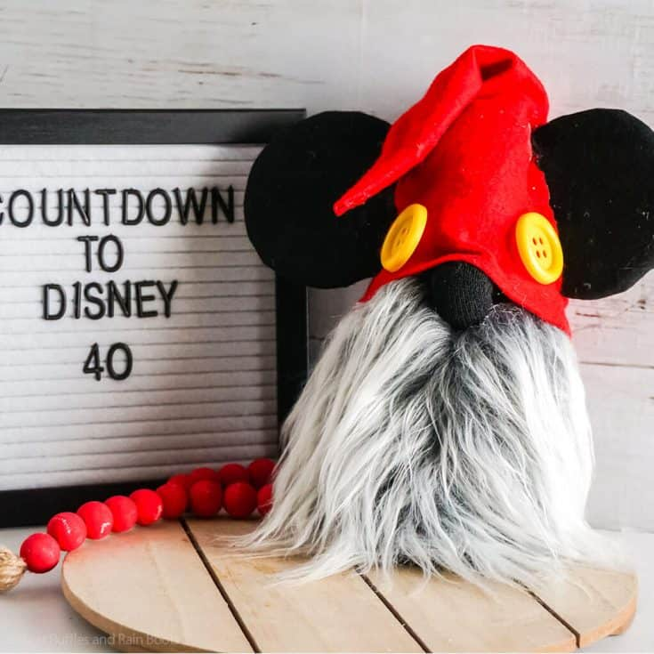 diy mickey sock gnome