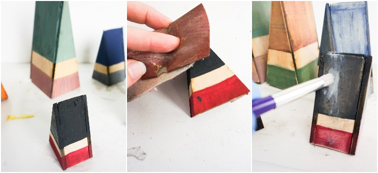 photo tutorial of how to make wood gnomes