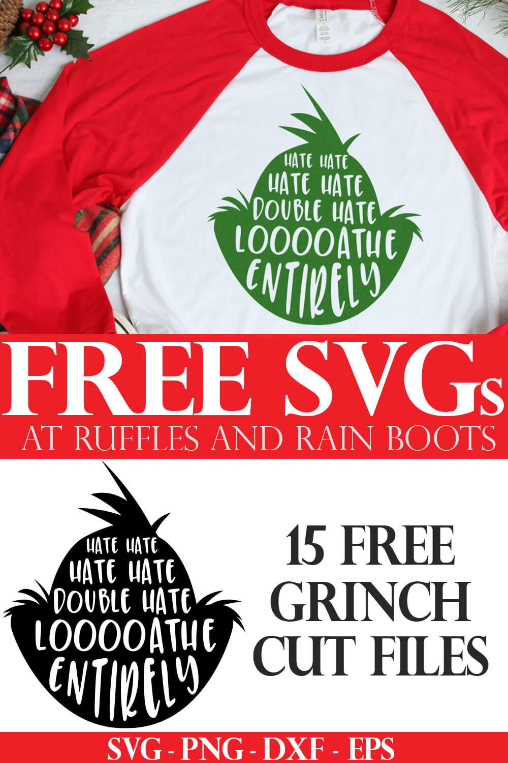 Free Grinch Head Svg Files And Grinch Face Cut Files For Holiday Crafts